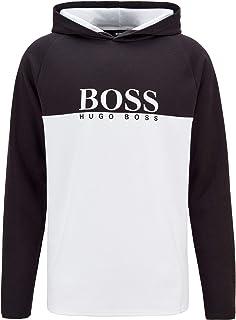 BOSS Mens Jacquard LS-Shirt H. Loungewear top in a Double-Knit Cotton Blend