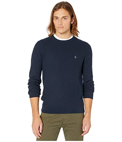 Original Penguin Tuck Stitch Sweater (Dark Sapphire) Men