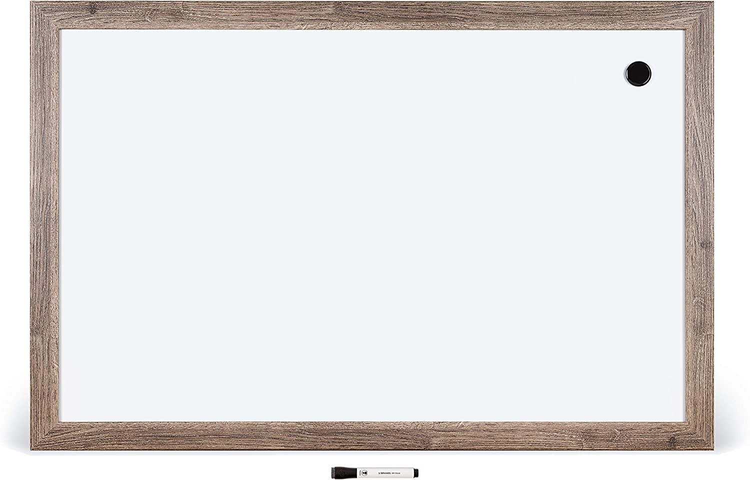 U Brands Magnetic Dry Super intense SALE Erase Board 23 Inches Wood F Rustic x 35 Limited time for free shipping