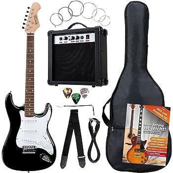 Rocktile Banger's Pack E-Guitar Set Black 8 Pieces