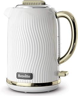 Breville Flow Electric Kettle   1.7 L   3kW Fast Boil   White & Gold [VKT185]