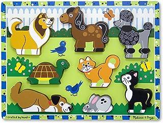 Melissa & Doug- Pets Juego Puzzle con 8 Piezas, Multicolor (Melissa&Doug 13724) , color/modelo surtido