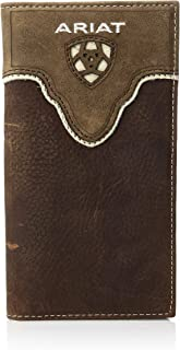 Men's Distressed Shield Inlay Rodeo Western Wallet