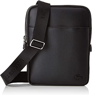 Lacoste Mens Small Flat Crossover Bag - Black