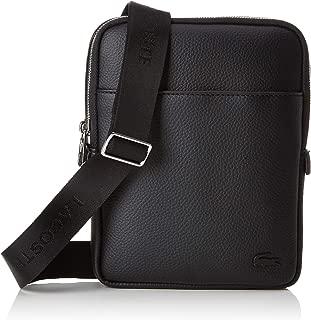Mens Small Flat Crossover Bag - Black
