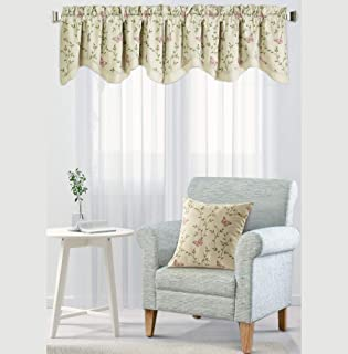 Home Soft Things Serenta Embroidery Pillow Shell and Valance Set, Vine Butterfly, 20
