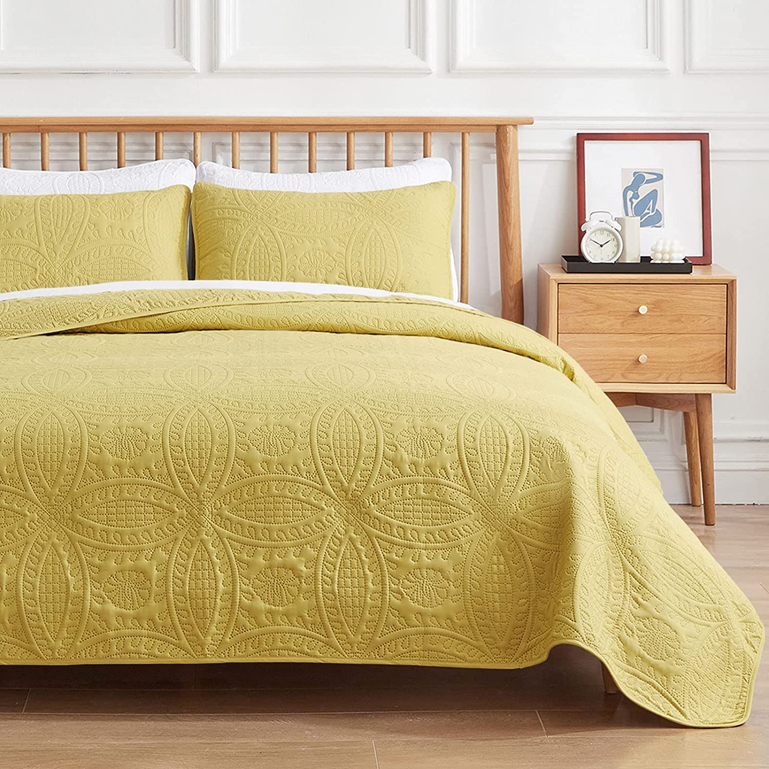 VEEYOO 2 Pieces price Bedspread Twin Ultrasonic Light - Quantity limited Size Embossing