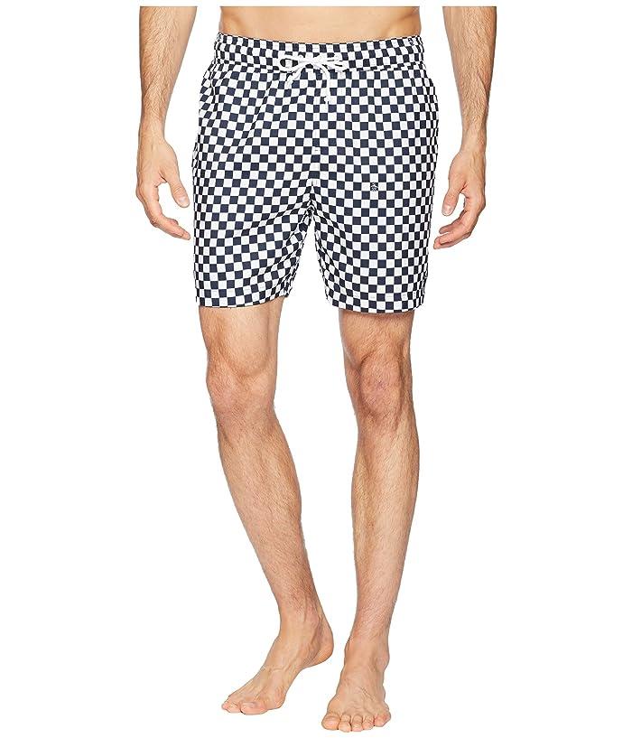 Original Penguin Reversible Checkerboard Print Elastic Volley Trunks (Dark Sapphire) Men
