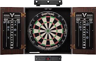 Viper Stadium Cabinet & Shot King Sisal/Bristle Dartboard Ready-to-Play Bundle with..