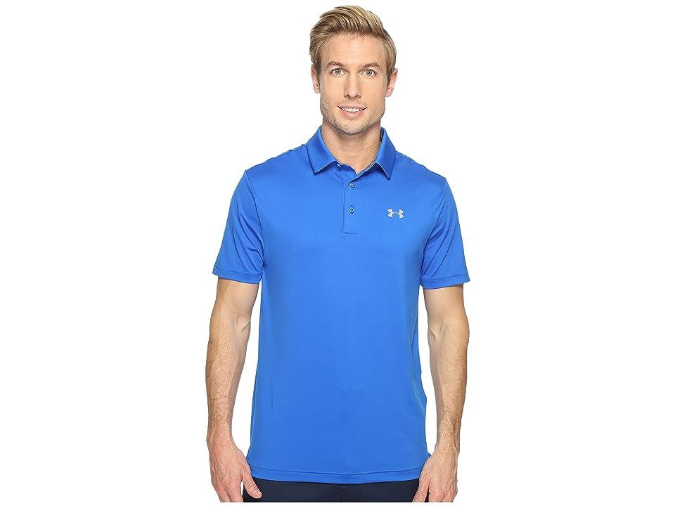 Under Armour Golf UA Playoff Polo (Blue Marker/Steel/Steel) Men