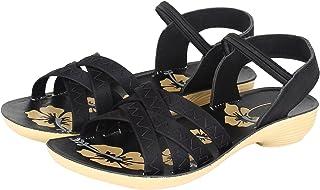Shoefly Women's Black-983 Fashion Sandals
