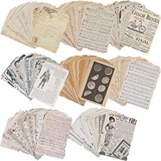 200 Pieces Scrapbook Paper Vintage Scrapbooking Supplies Scrapbooking and Stamping Supplies Craft Kits for Journals Arts C...