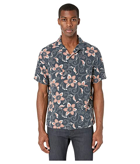Double Face Floral Short Sleeve by Vince