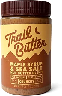 Trail Butter – Maple Syrup & Sea Salt – Paleo Nut Butter Blend - 16oz jar - Single