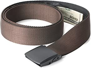 Travel Security Money Belt with Hidden Money Pocket - Cashsafe Anti-Theft Wallet Unisex Nickel free Nylon Belt by JASGOOD