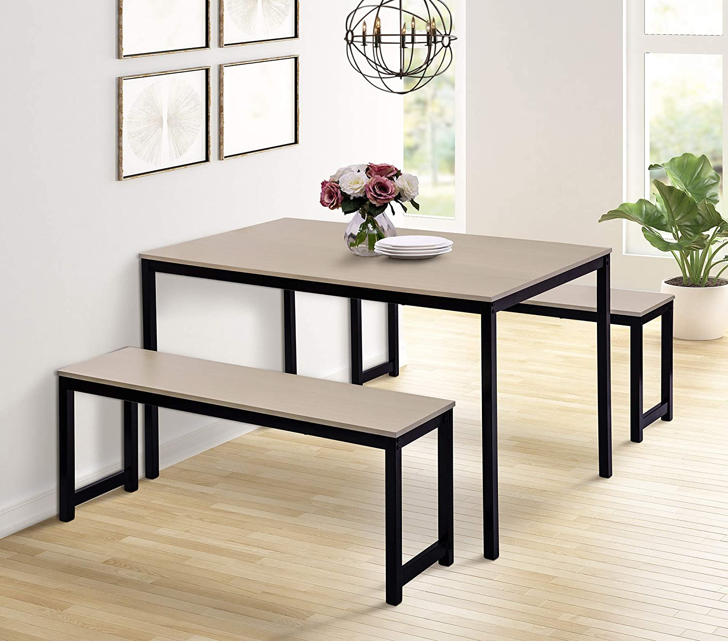 Dining Table Set Clearance SALE Limited time 35% OFF 3 Piece for 1 4-6 People
