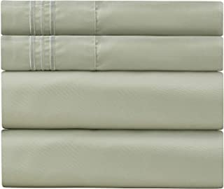 Sweet Sheets Bed Sheet Set King Spa Mint - 1800 Double Brushed Microfiber Bedding - Wrinkle, Fade, Stain Resistant - Soft and Durable - All Season - 4 Piece (King, Spa Mint)