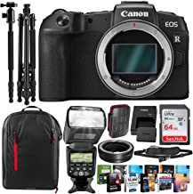 Canon EOS RP Mirrorless Digital Camera with Mount Adapter EF-EOS R Kit and Pro Photo Editing Software Package + Premium Accessory Bundle