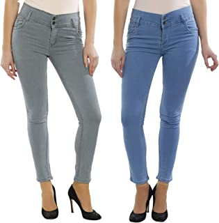 Raiter Super Skinny Jeans for Women and Girls Size-(26inch to 34inch Waist) Pack of 2