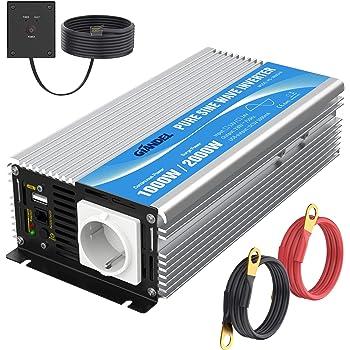 Wechselrichter 12 V 220 V Pure Sinus 1000 W Elektronik