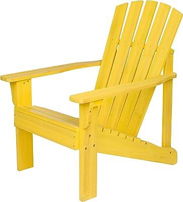 Shine Company 8616SF Vineyard Adirondack Chair, Sunflower