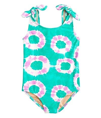 crewcuts by J.Crew Tie-Shoulder One-Piece Swimsuit (Little Kids/Big Kids) (Orchid Aqua) Girl