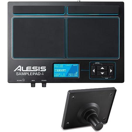 Alesis SamplePad 4- MultiPad de Batteries Electronique 4 Zones Sensibles avec 10 Sons de Kit Batterie, Lecteur de Carte SD/SDHC, Effets et Sortie USB/MIDI+ Alesis Module Mount Support universel pour Module/Multipad Bundle