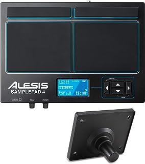 Alesis SamplePad 4- MultiPad de Batteries Electronique 4 Zones Sensibles avec 10 Sons de Kit Batterie, Lecteur de Carte S...