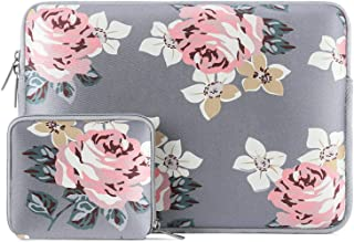 MOSISO Water Repellent Neoprene Laptop Sleeve Bag Cover Compatible with 15-15.6 inch MacBook Pro, Notebook Computer with Small Case, Gray Rose