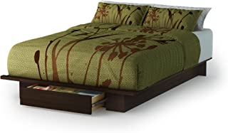 South Shore Holland Platform Bed with Drawer, Full/Queen 54/60-Inch, Mocha