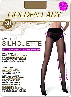 GOLDEN LADY My Secret Silhouette 30 3P Collant, 30 DEN, Trasparente (Melon 001A), X-Large (Taglia Produttore:5 – XL) (Pacc...