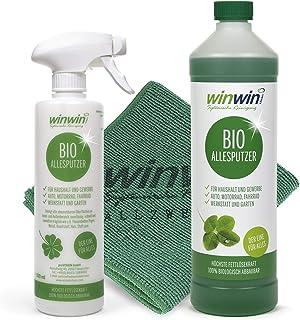 winwin clean Systemische Reinigung - ALLE SPUTERS 1000ml INCL. Doseerfles + universele doek 32cm x 32 cm - U zult versteld...