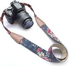Camera Neck Shoulder Belt Strap,Alled Leather Vintage Print Soft Camera Straps for Women/Men for DSLR/SLR/Nikon/Canon/Sony/Olympus/Samsung/Pentax/Fujifilm (CowhideBlue)