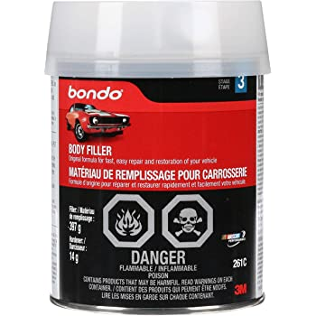 Bondo Body Filler, Original Formula for Fast, Easy Repair & Restoration of Your Vehicle, 14 oz with 0.5 oz Hardener