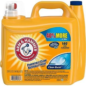 Arm & Hammer Clean Burst Liquid Laundry Detergent, 140 loads