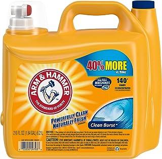 Arm & Hammer Liquid Laundry Detergent, 140 loads Clean Burst 210 Fl Oz