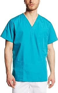 Cherokee Big and Tall Originals Unisex V-Neck Scrubs Shirt, Teal Blue, XXXX-Large