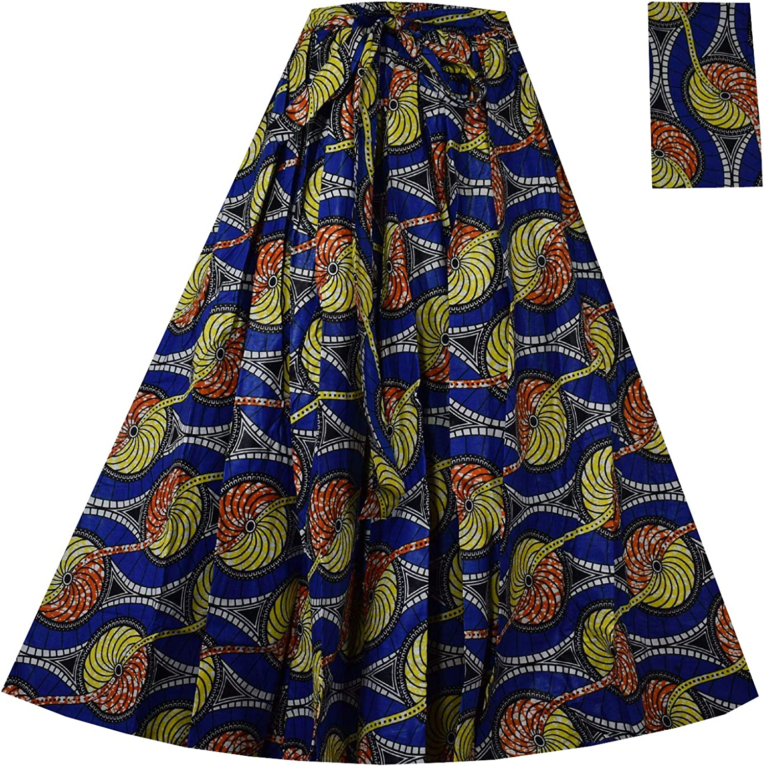 Decoraapparel Anakara Skirts African Wax Long Women's Flared Plus Size Skirts