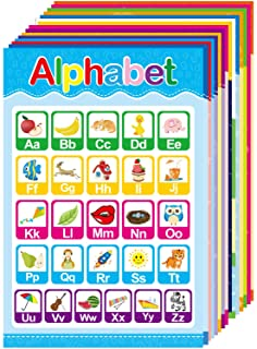 15 Educational Posters for Toddlers Kids Preschool Kindergarten Nursery Decorations Alphabet ABC Colors Numbers Shapes and...
