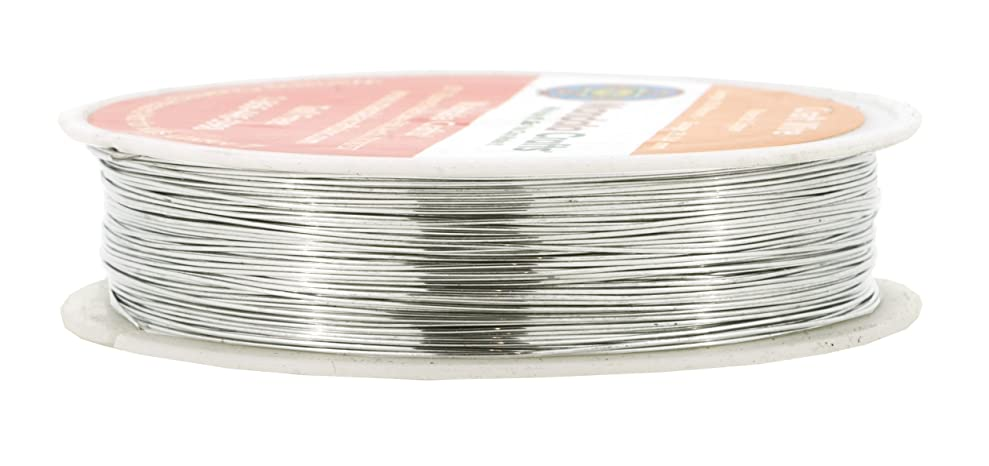 Mandala Crafts Thin Copper Wire for Jewelry Making, Sculpting, Weaving, Hobby, Gem Metal Wrap; Soft and Bendable; 1 Spool (26 Gauge 50M, Silver) gpqfqoobt3254
