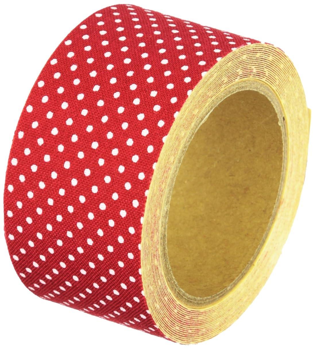 印象吐くやりがいのあるモリト Halulu 衣類用布シール Sドット レッド 1巻