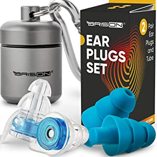 Noise Cancelling Ear Plugs for Sleeping – Reusable Safe Silicone Earplugs Musicians..