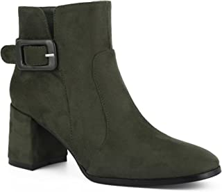 Women Shoes Suede Classic Mid Block Ankle Boots