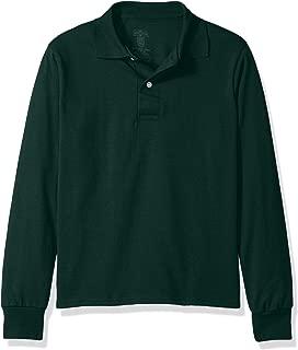 Jerzees Boys' Big Spot Shield Long Sleeve Polo Sport Shirt
