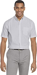Van Heusen Men's Wrinkle Free Short Sleeve Button Check Down Shirt