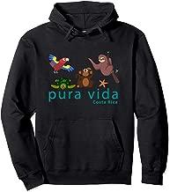 Costa Rica Pura Vida Animals Pullover Hoodie