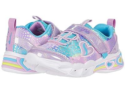 SKECHERS KIDS Sport Lighted Sweetheart Lights 302059N (Toddler) (Lavender/Multi) Girl