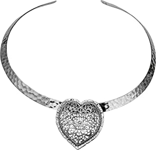 Paz Creations .925 Sterling Silver Heart Shaped Pendant, Made in Israel