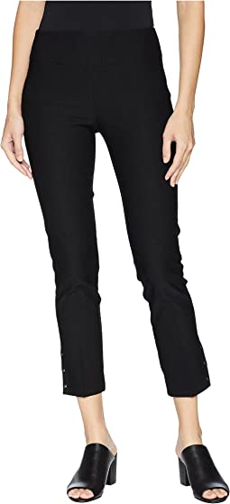 Elastic Waist Pull-On Pants with Grommet Trim