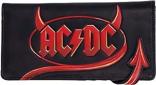 Nemesis Now Oficjalnie licencjonowane logo AC/DC wytłaczane logo błyskawica portmonetka, czarny, 18,5 cm